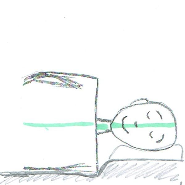 Kopfkissen und Matratze