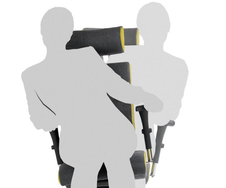 Bürostuhl mit Seitendynamik bewegliche Sitzfläche